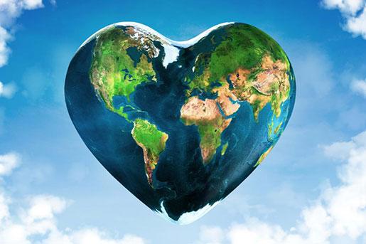планета в виде сердца